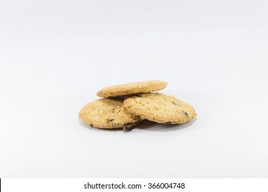Three cookies piled