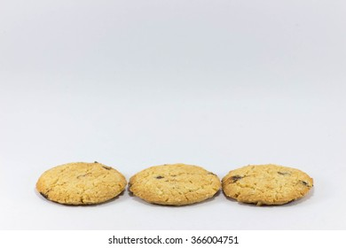 Three cookies side by side