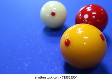Three cushion carom billiards