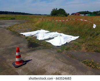 Three dead body after murder or terrorist case