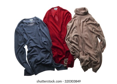 Three different color sweater