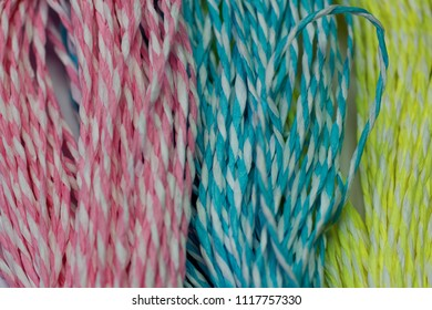 Three different  Color thread