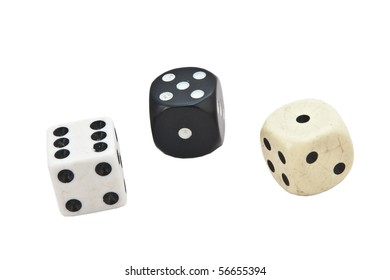 Three different dice