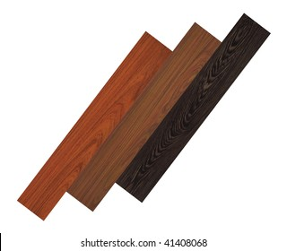 Three different wood floors