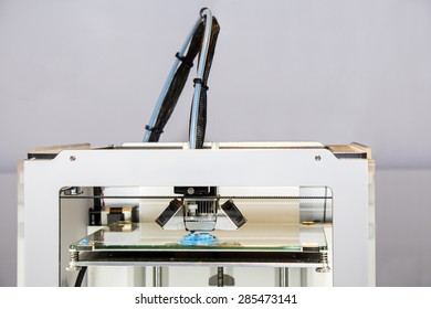 Three dimensional printer, Printing with blue Plastic Wire