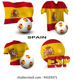 Three dimensional render featuring one of the participating nations in Europe biggest football competition