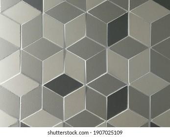 Three dimensional square pattern tile.
