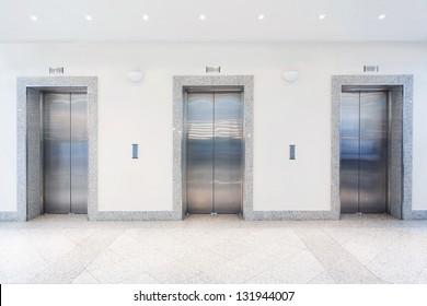 three doors in elevator