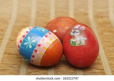 three easter eggs