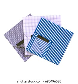 Three elegant pocket squares