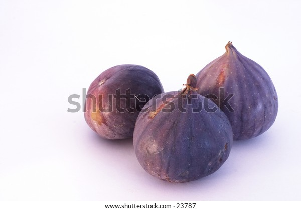 Three figs. Nice detail and shades of purple.