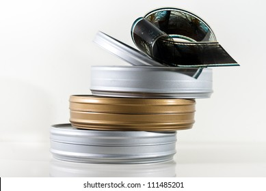Three  film cans isolated