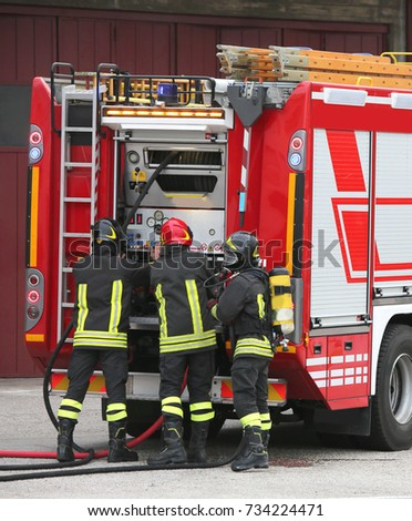 three Firefighters and tanker