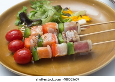 Three Flavored Fish Barbeque / Salmon , Tuna and Seabass fish Barbeque