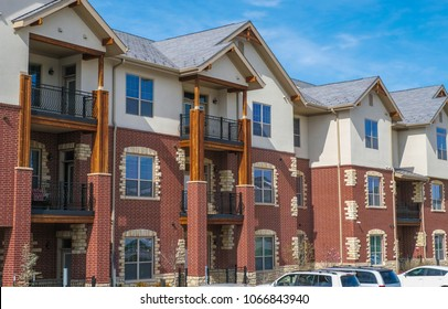Three Floor High Multifamily Building In A Midwestern Town, USA