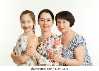 three generations of women. grandmother, mother and daughter