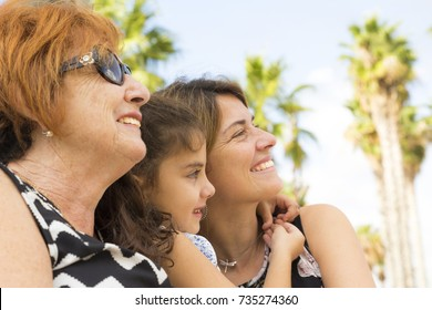 Three generations of women. Mother, daughter and grandmother.