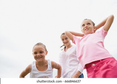 Three girls playing