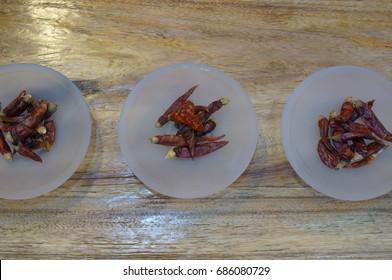Three Glass Plates of Morita Chili