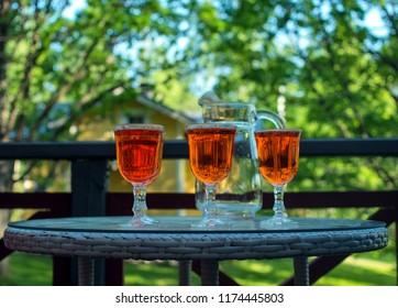 three glasses of spritz