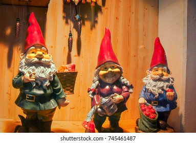three gnomes with red hat