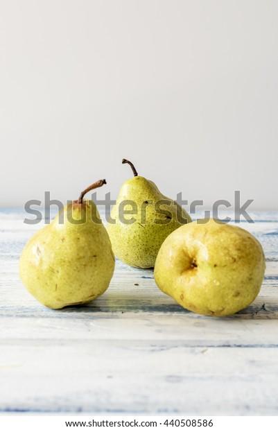 three golden pears