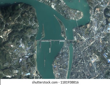 Three Gorges Dam and Hydropower Plant - Sanxia Dam on Yangtze River in China