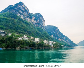 Three Gorges Tribe Scenic Spot along the Yangtze River,located in the Xiling Gorge of Three Gorges, Yichang, Hubei, China
