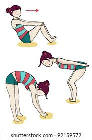 three gym exercise
