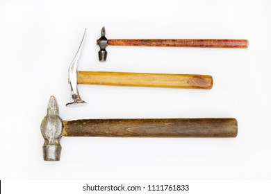 three hammer on white background