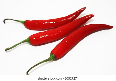 three hot chilis