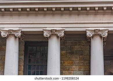 Three Ionic Columns