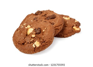 Three isolated cookies