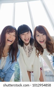 Three Japanese girls