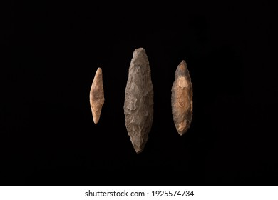 three javelin points. From the paleolithic