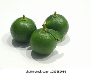 three kalamansi fruits