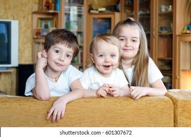 Three kids at home