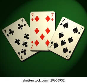 Three of kind. Poker