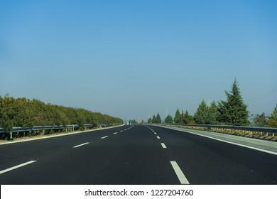 Three Lane Highway Road
