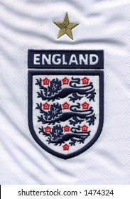 Three Lions close up of an england football jersey