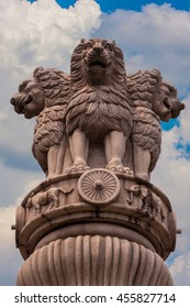 The Three lions sculpture in china.