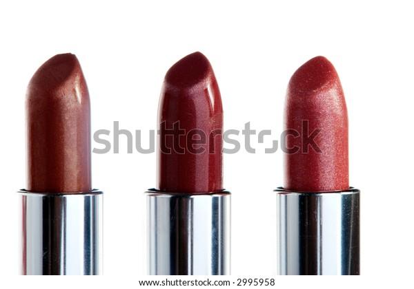 Three Lipsticks in a row