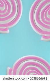 Three lollipops, close-up