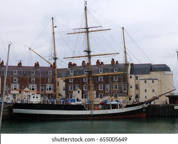 Three Masted ship Weymouth Harbour