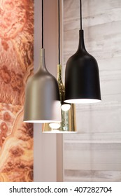 Three modern hanging lamps