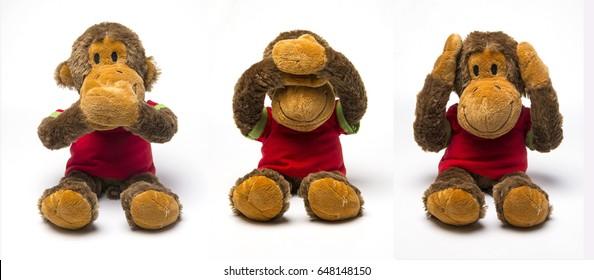 three monkey doll