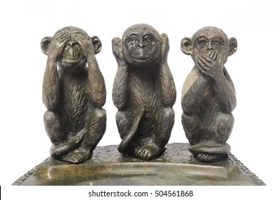 Three Monkeys Sculpture Hear Speak see