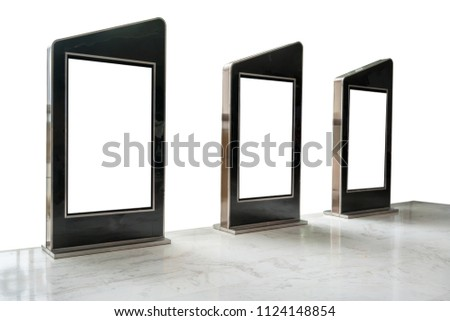 Three Movie Poster Frames Along Walkway Stock Photo (Edit Now ...