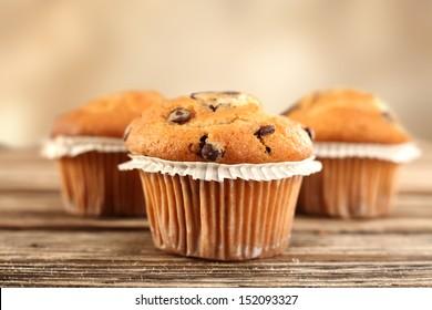 three muffins