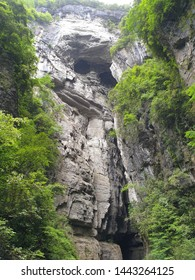 The Three Natural Bridges in Xiannüshan Town, Wulong District, Chongqing Municipality, China.They lie within the Wulong Karst National Geology Park, itself a part of the South China Karst-Wulong Karst
